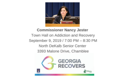 Commissioner Nancy Jester Town Hall on Addiction and Recovery